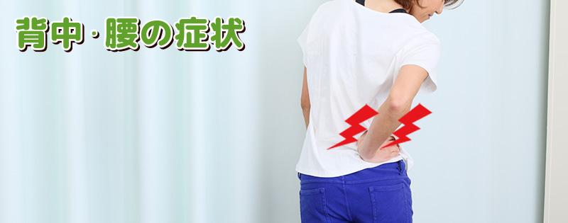 背中・腰の症状